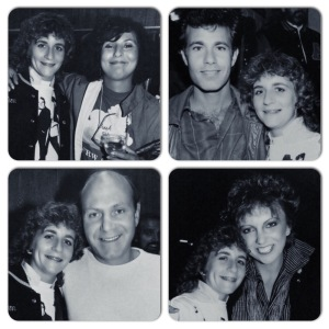 Me, at age 16, with each member of The Manhattan Transfer